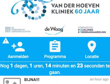 Webapplicatie voor 60 jarig jubileumfeest De Forensische Zorgspecialisten